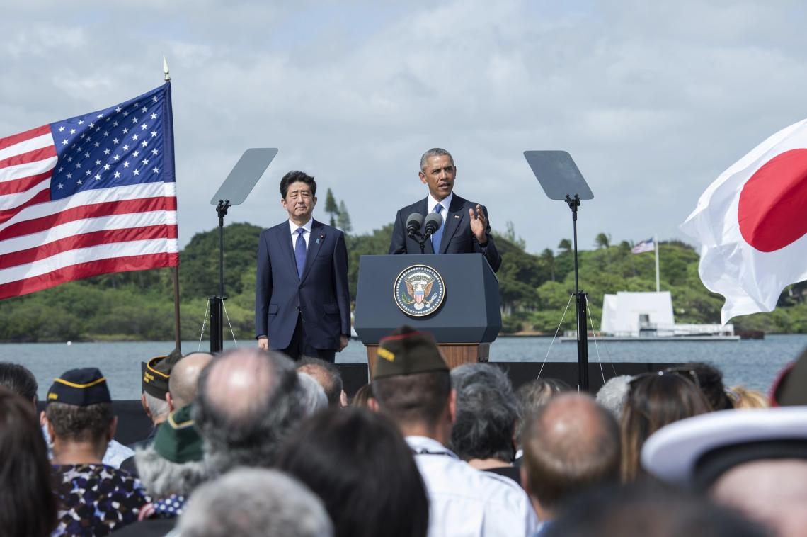 President Obama and Prime Minister Abe Visit USS Arizona Memorial